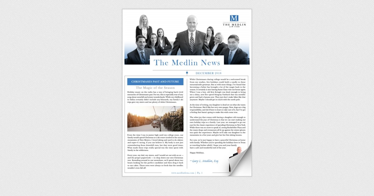 Medlin Law Firm December 2018