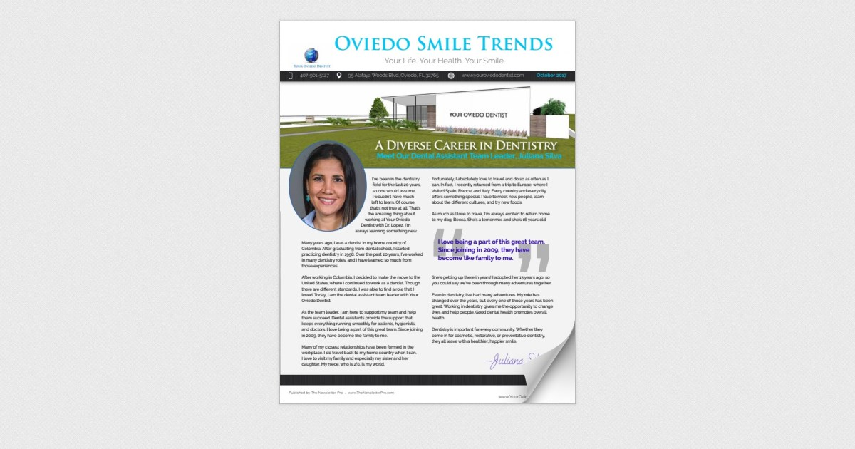 Your Oviedo Dentist October 2017