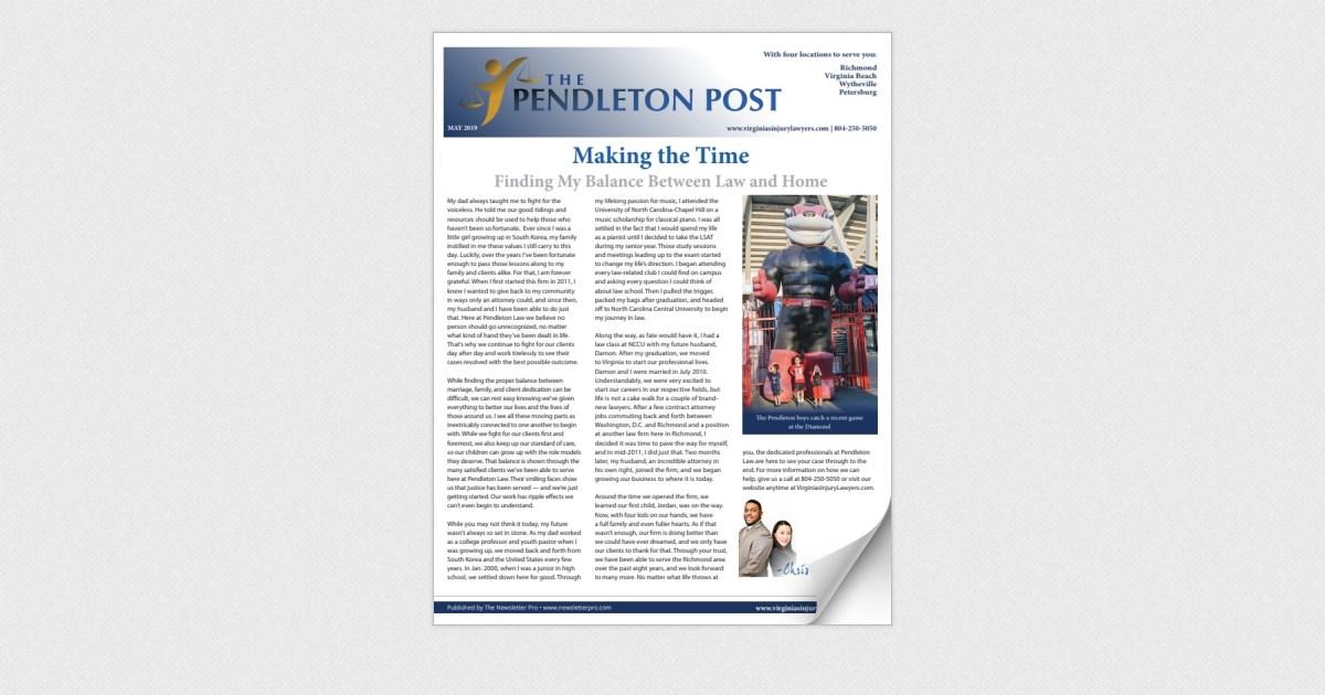 Pendleton Law May 2019