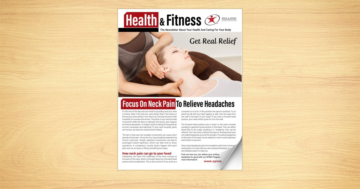 Focus On Neck Pain To Relieve Headaches
